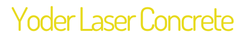 Yoder Laser Concrete Logo